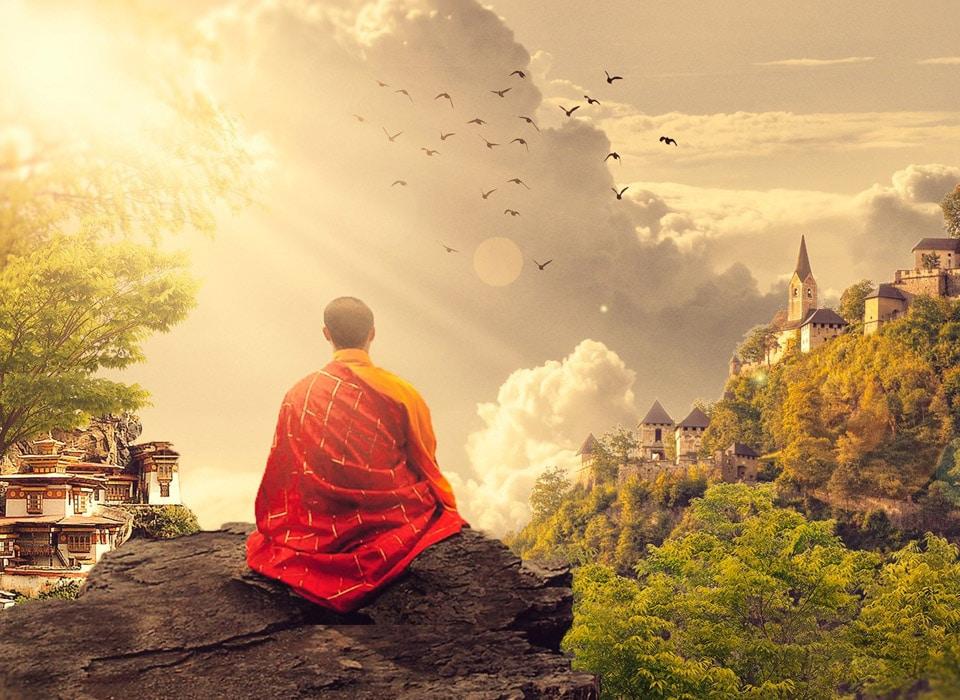 Programme de méditation mensuelle sur un an